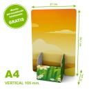 Dispensador de cartón A4 vertical 105 mm.