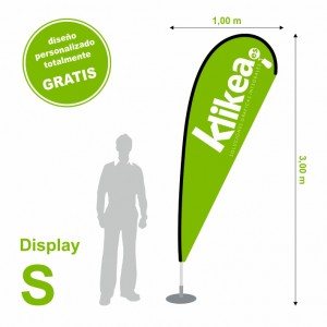 Bandera display  S 100 x 300