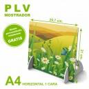 PLV mostrador a4 horizontal