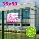 Carteles PVC 35x50 - 1 tinta
