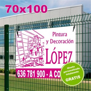Carteles PVC 70x100 - 1 tinta