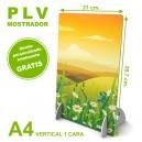PLV mostrador a4 vertical