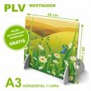 PLV mostrador a3 horizontal