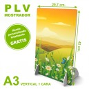 PLV mostrador a3 vertical