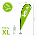 Bandera display XL 150 x 550