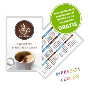Calendario bolsillo plastificado